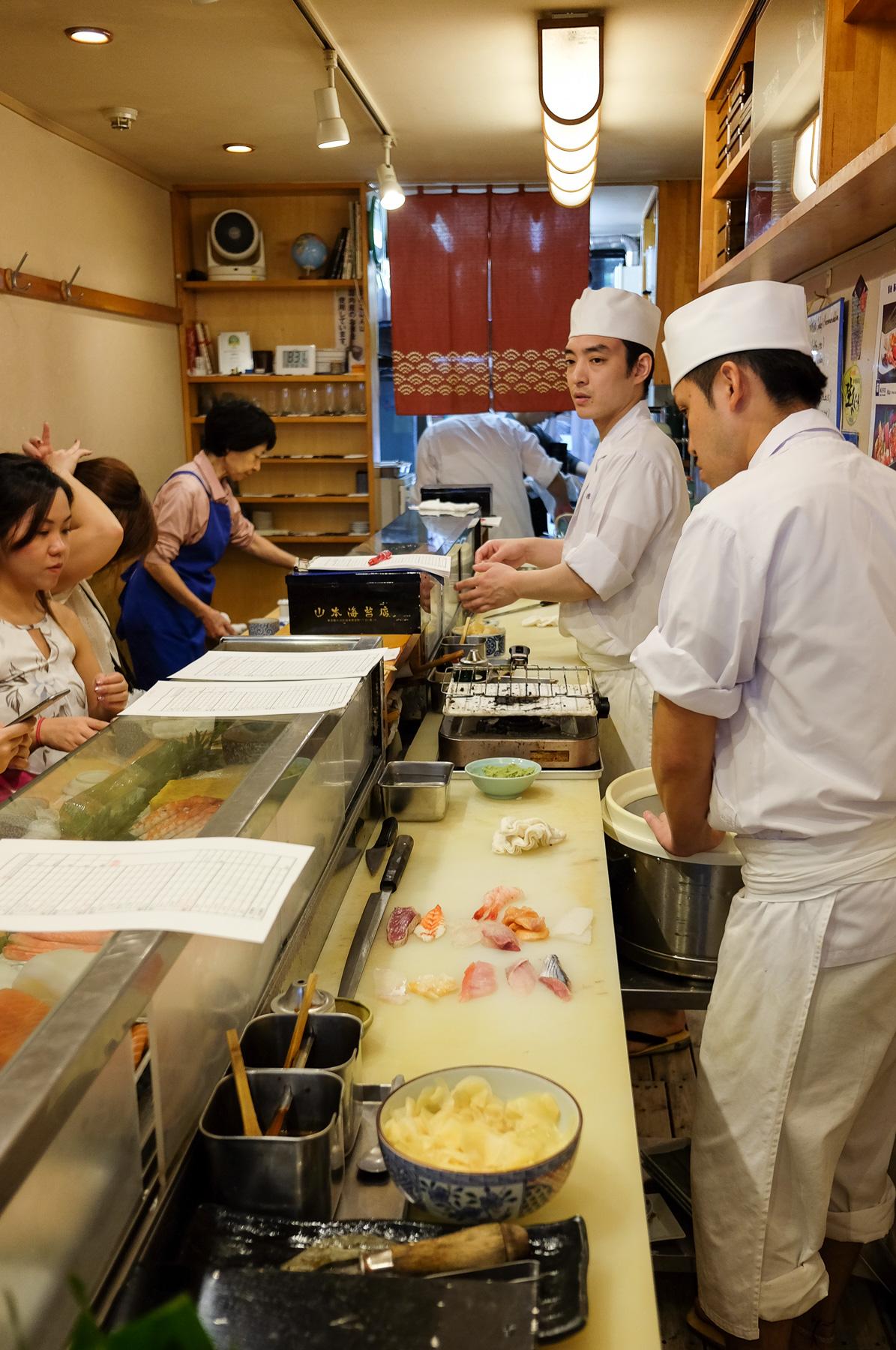 Sushi früh morgens!