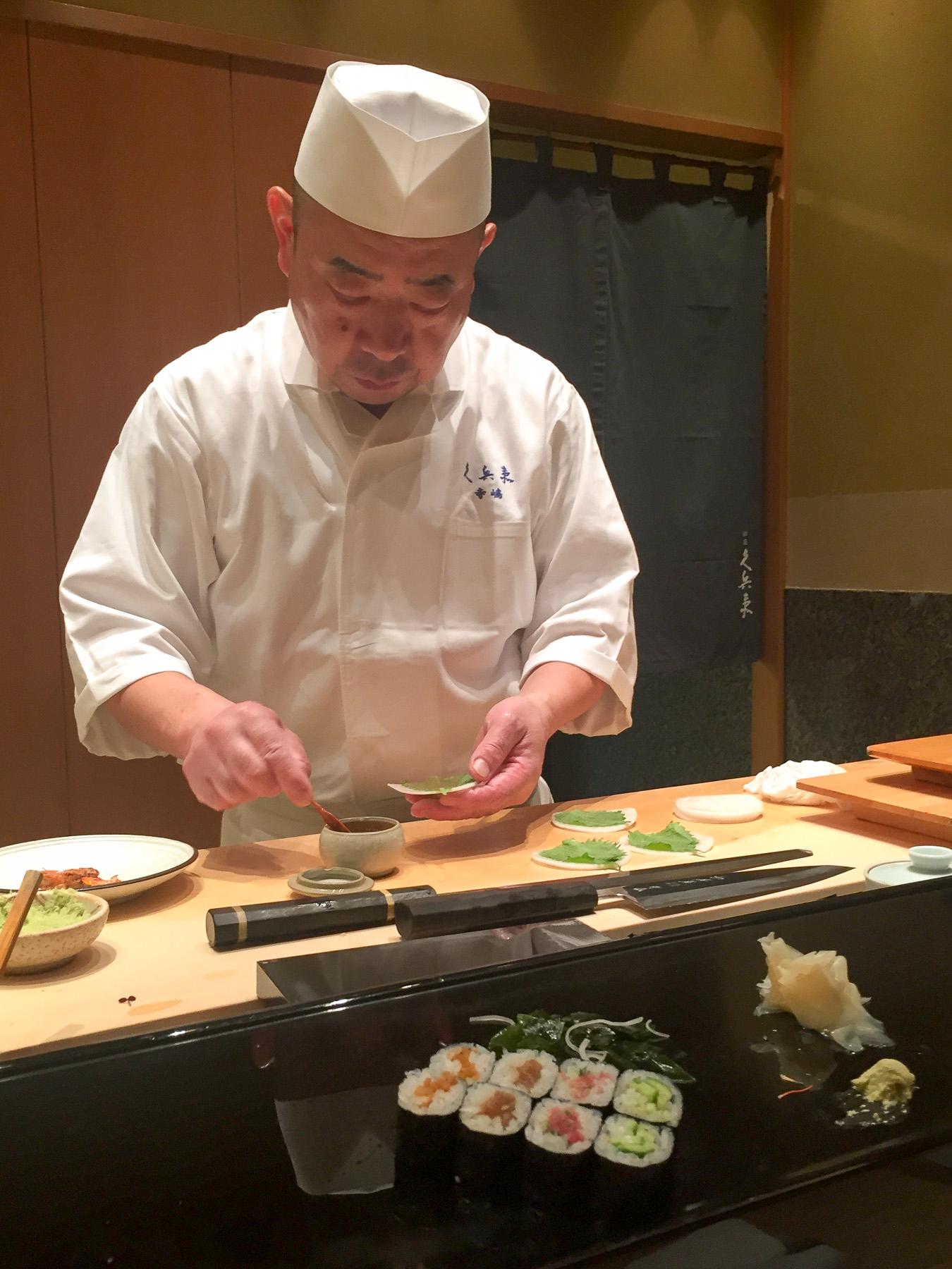 Der Sushi-Meister am Werk.