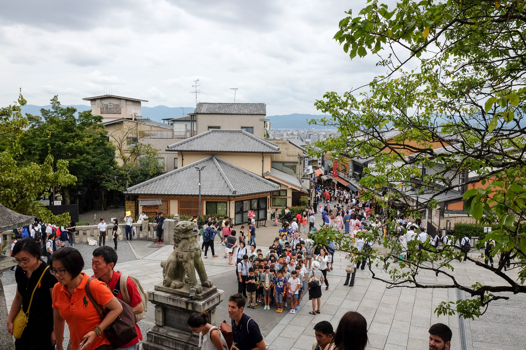 Es war wirklich viel los in Kyoto.
