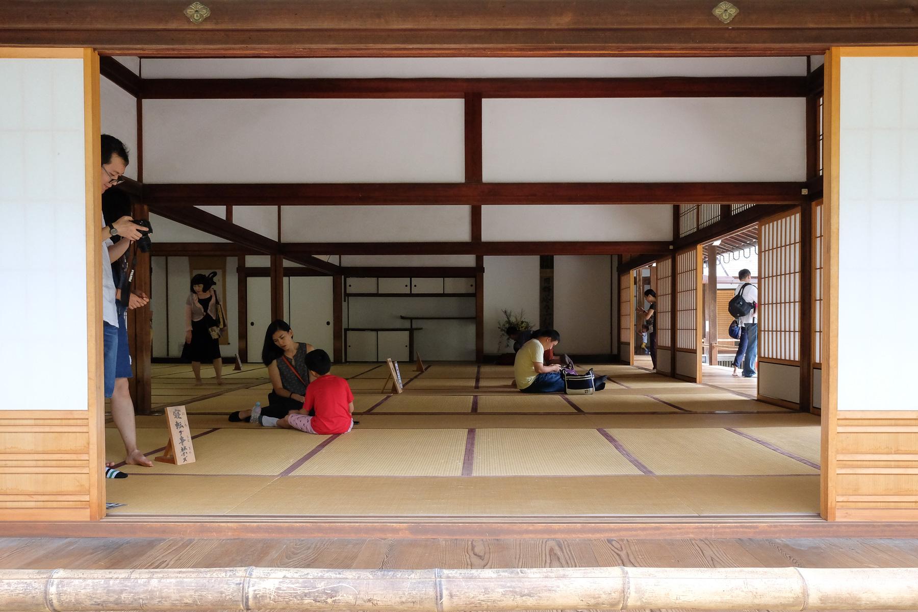 Der Ruheraum im Tenrzuji Tempel.