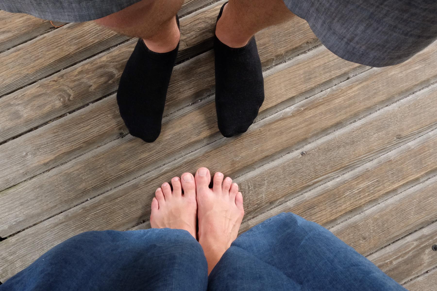 In den Schreinen und Tempel heisst es immer: Schuhe ausziehen.