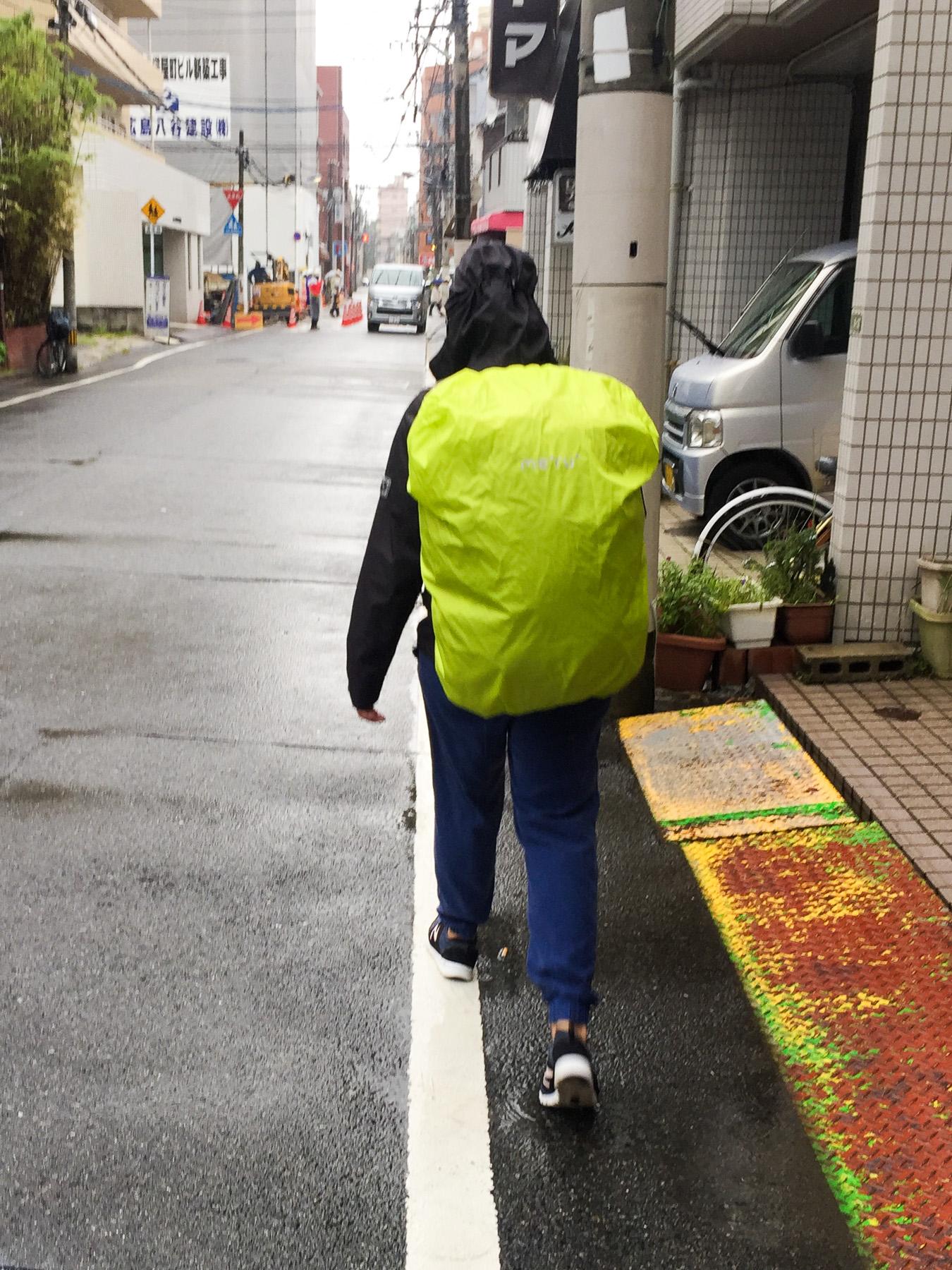 Und natürlich hat's am Reisetag wieder geregnet.