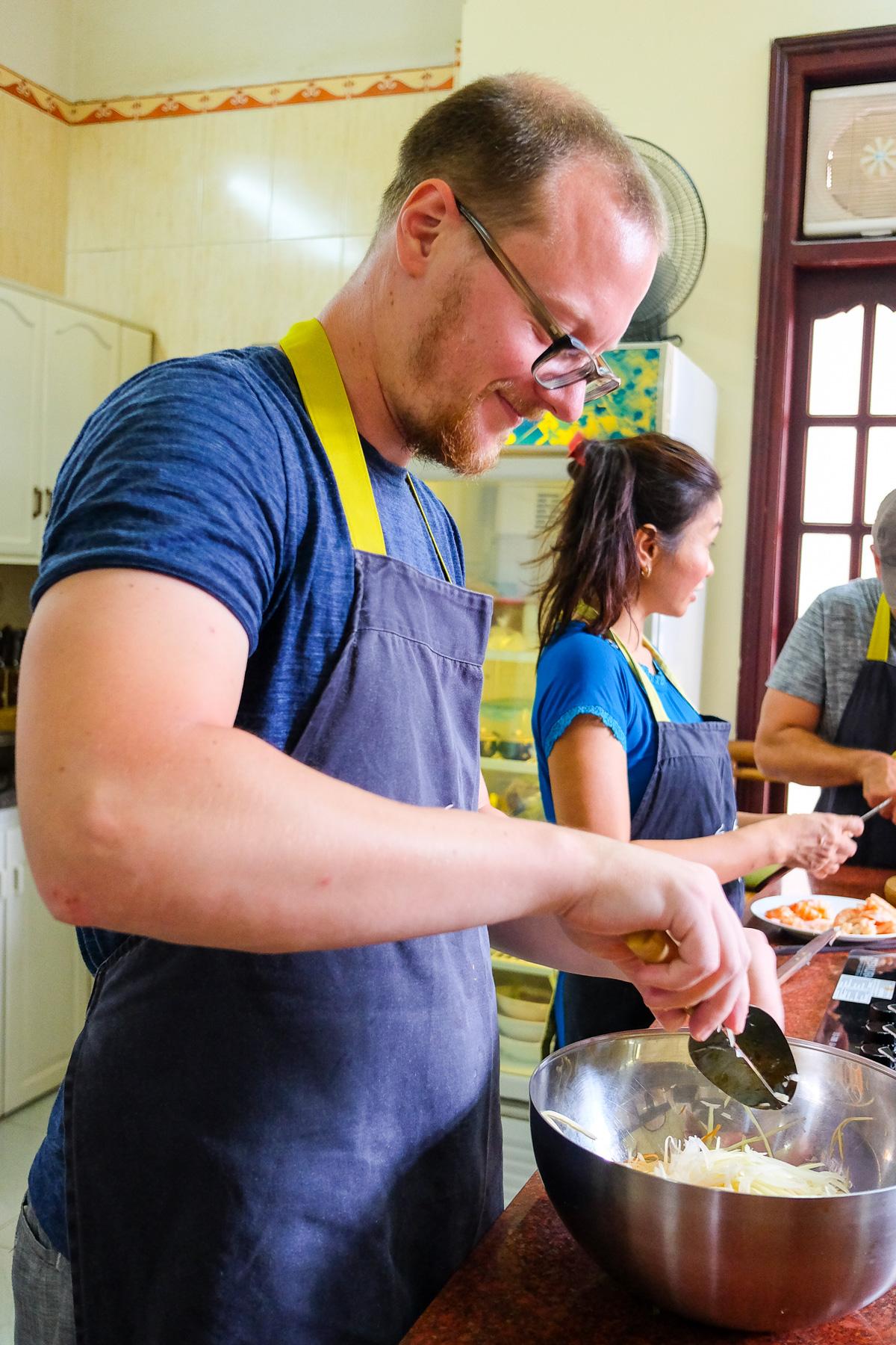 Marc war für den Shrimps-Salat zuständig.